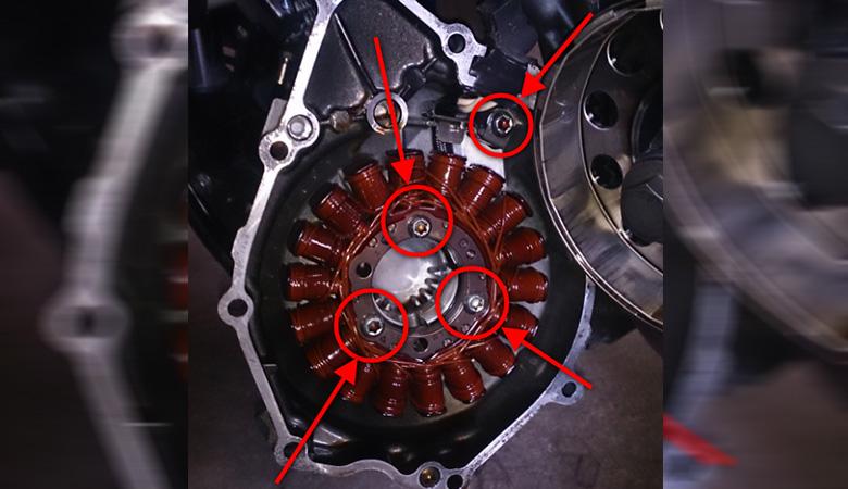Yamaha R6 RJ11 Lichtmaschine Schrauben