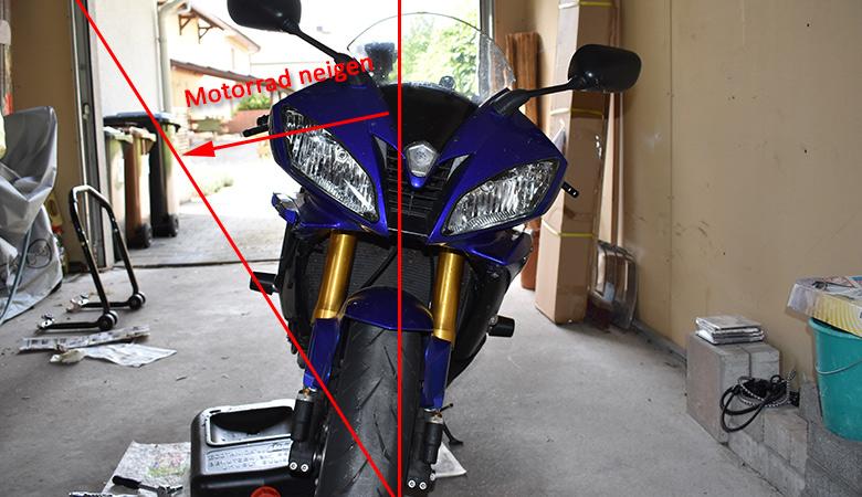 Yamaha R6 RJ11 RJ15 Kühlsystem entlüften Motorrad neigen