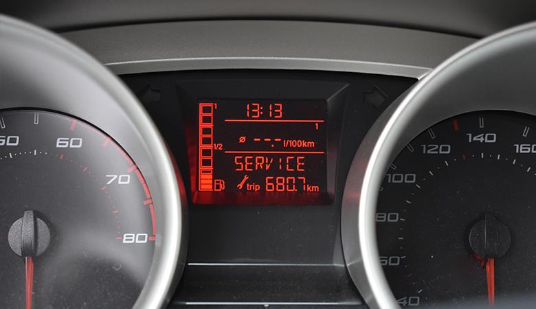 Seat Ibiza 6J Service-Anzeige