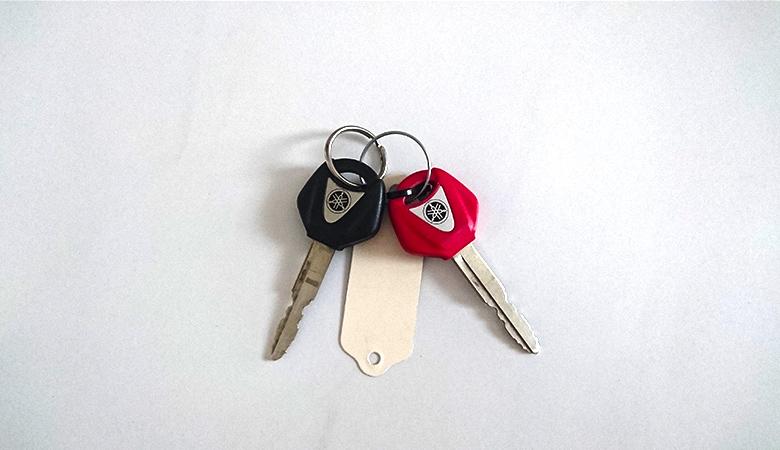 Yamaha R6 RJ11 RJ15 roter und schwarzer Schlüssel
