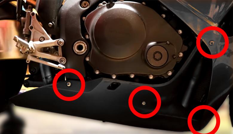 Honda CBR1000RR SC57 Verkleidung Schrauben