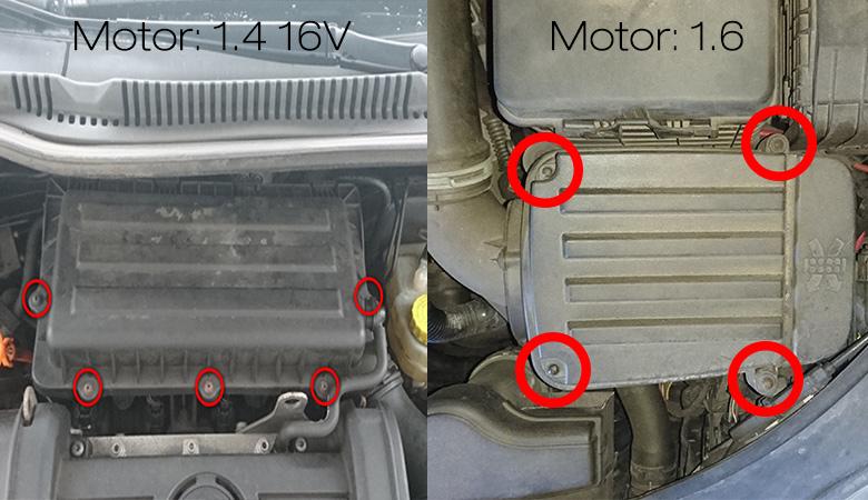 VW Golf 5 Luftfilterkasten Motor 1.4 16V und 1.6