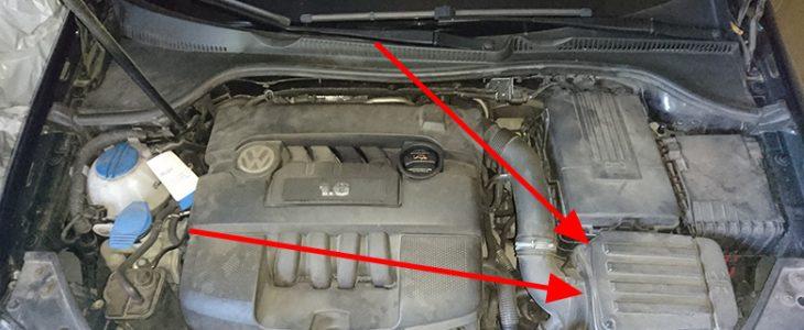 Luftfilter wechseln – VW Golf 5