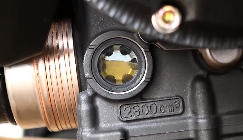 Yamaha MT-07 Ölstand