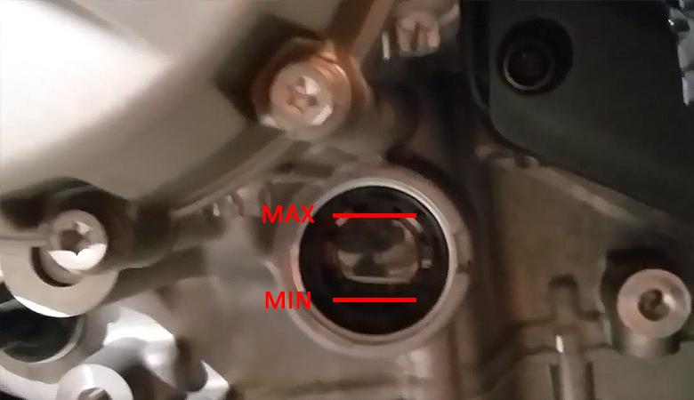 BMW S 1000 RR Ölstand