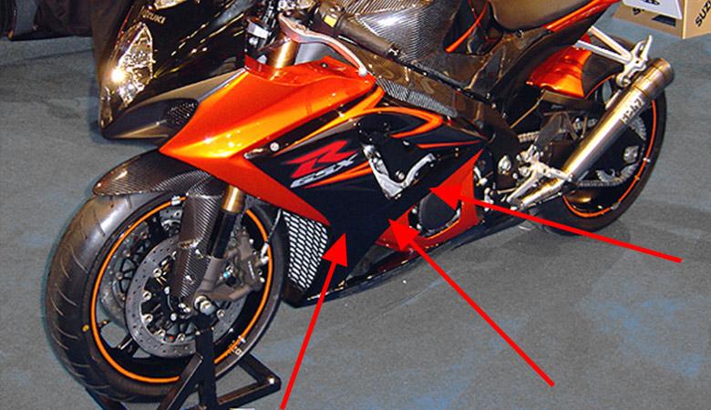 Suzuki GSX-R 1000 K6 K7 Verkleidung links
