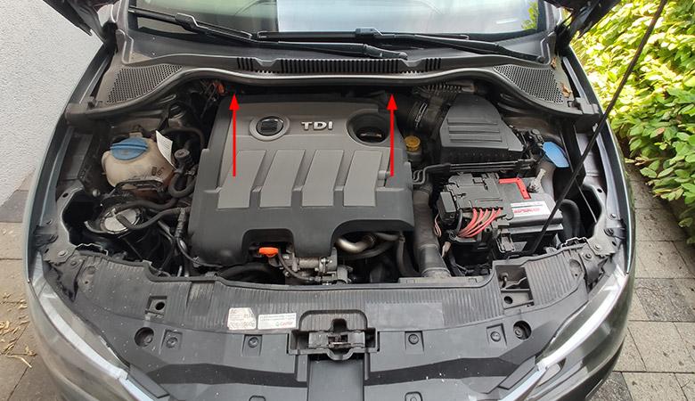 Seat Ibiza 6J 1.6 TDI Motorabdeckung