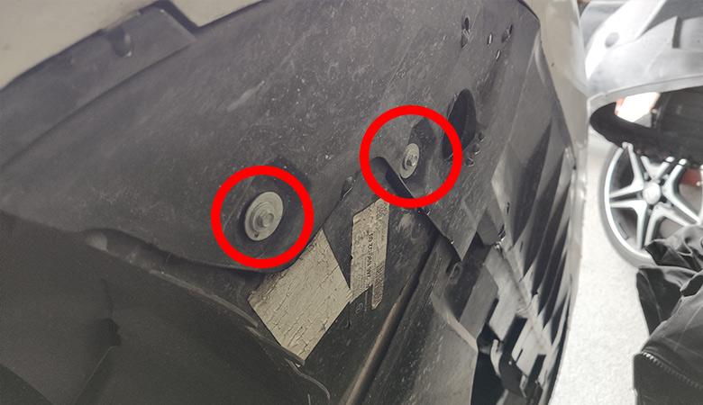 Mercedes A-Klasse W176 Stoßstange Schrauben unten