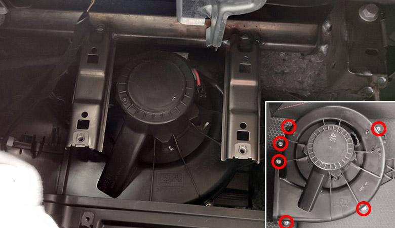 Seat Ibiza 6J 6P Gebläse Motor ausbauen