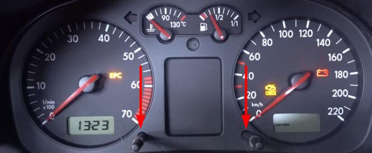 Service Anzeige Inspektion (OIL) zurücksetzen Anleitung – VW Golf 4
