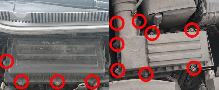 Luftfilter wechseln – VW Golf 6 / Polo V 6R / Touran