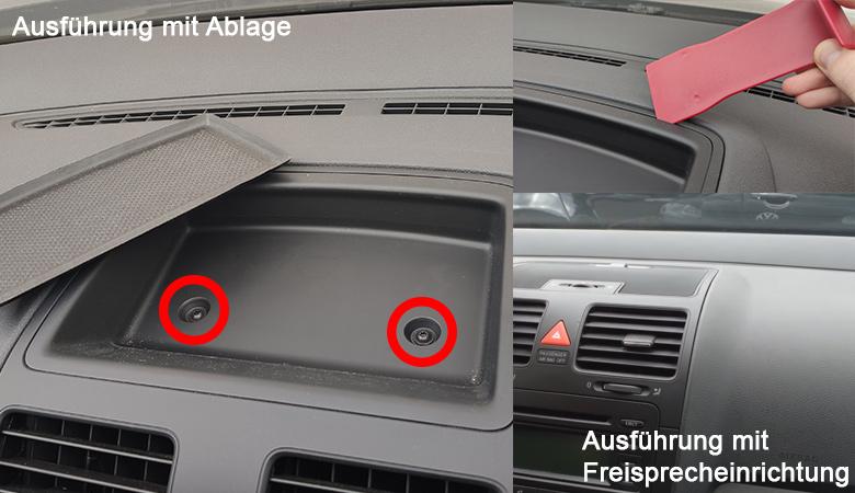 VW Golf 5 Abdeckung Ablage Freisprecheinrichtung