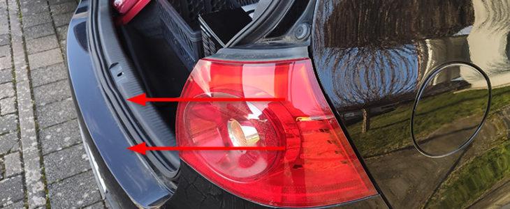 Rücklicht Birne / Lampe wechseln Anleitung – VW Golf 5