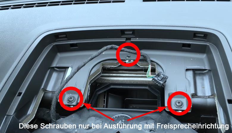 VW Golf 5 Schrauben Armatur Abdeckung