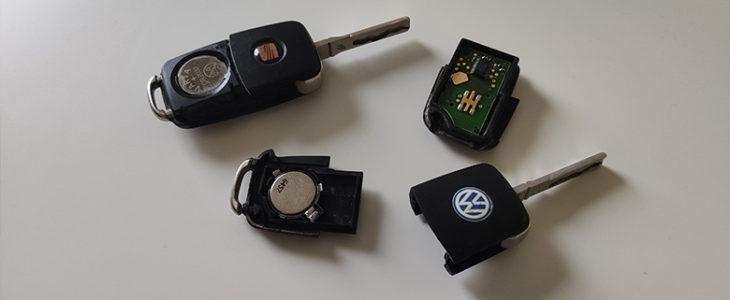 Schlüssel Batterie wechseln Anleitung – VW Seat Skoda Audi