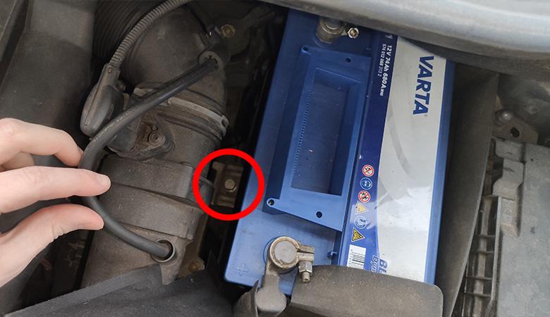 VW Golf 6 Touran Batteriehalterung