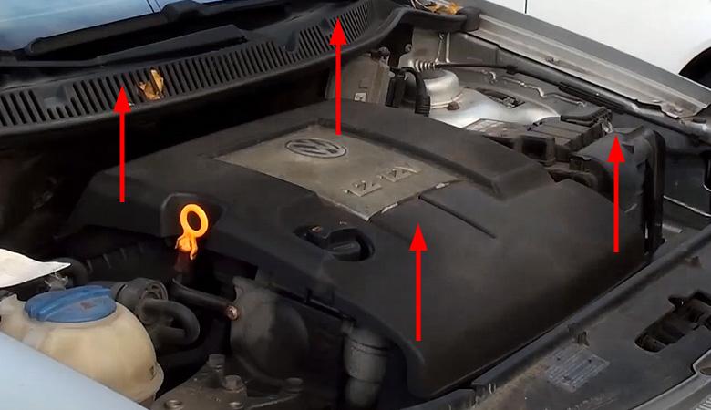 VW Polo IV 9N Motorabdeckung