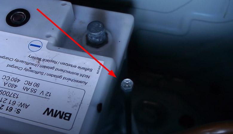 BMW 3er E90 Batterie Halterung