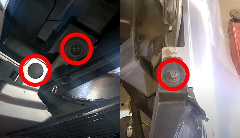 Ford Fiesta MK7 Scheinwerfer Befestigungsschrauben