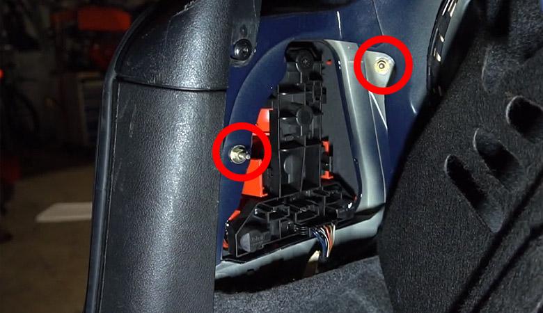 VW Golf 4 Schrauben Rücklicht