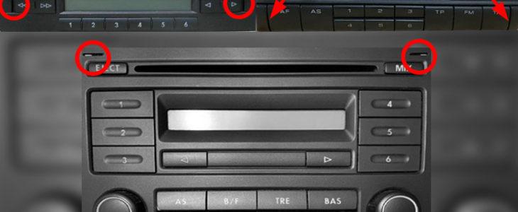 Radio ausbauen / wechseln – VW Golf 4