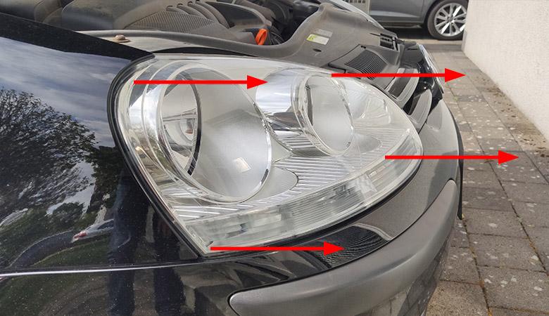 VW Golf 5 Scheinwerfer ausbauen