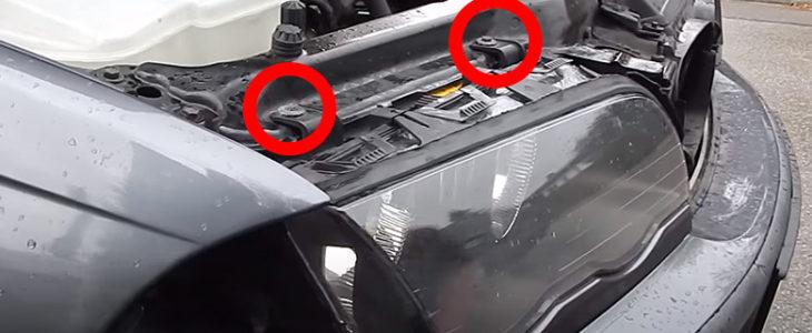 Scheinwerfer ausbauen – BMW 3er E46