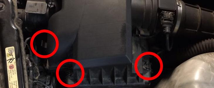 Luftfilter wechseln – BMW 3er E46