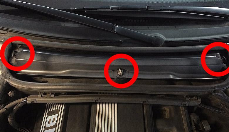 BMW 3er E46 Innenraumfilter Abdeckung